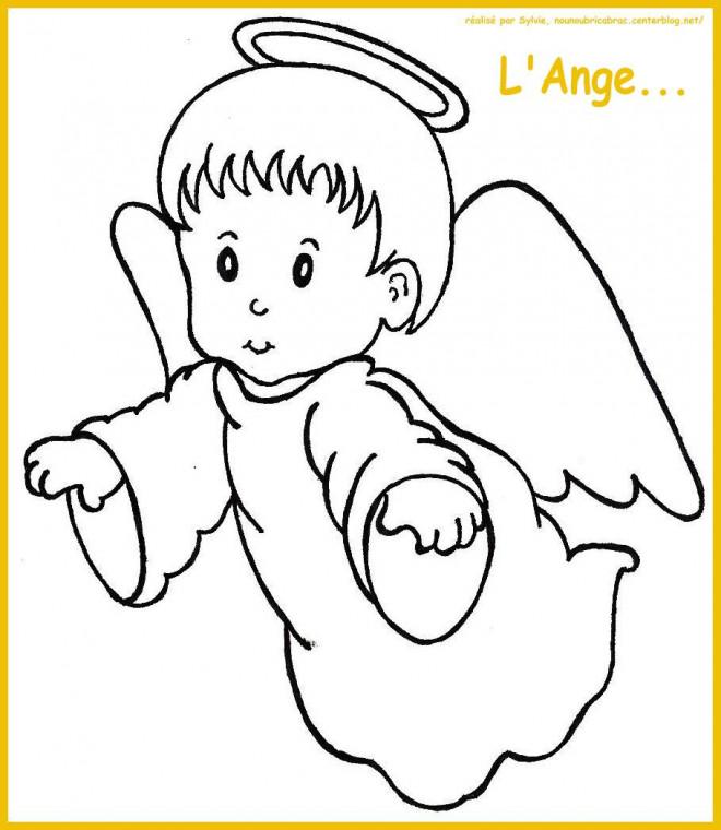Coloriage et dessins gratuits L'ange à imprimer