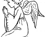 Coloriage et dessins gratuit Les ailes d'ange à imprimer