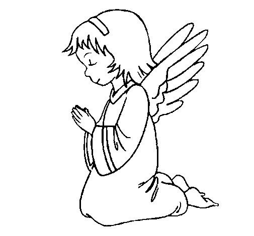 Coloriage et dessins gratuits Prière à imprimer