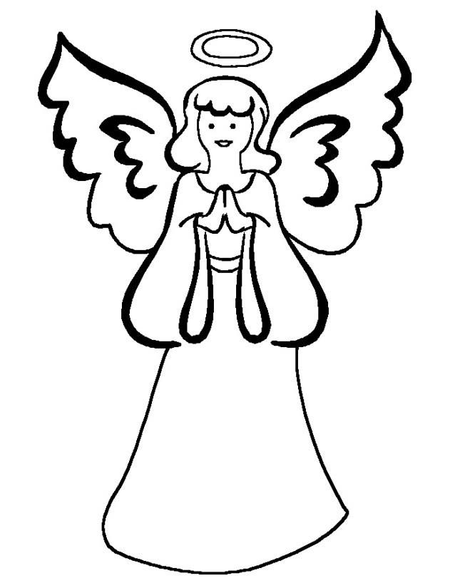 Coloriage et dessins gratuits Simple Ange dessin à imprimer