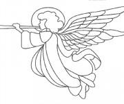 Coloriage Trompette d'ange de Noel