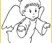 Coloriage et dessins gratuit Un petit ange à imprimer