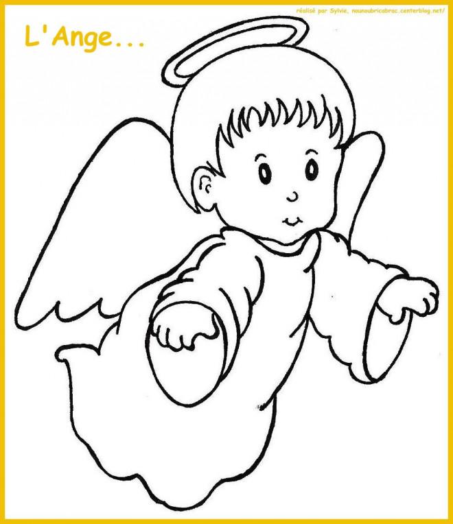 Coloriage et dessins gratuits Un petit ange à imprimer