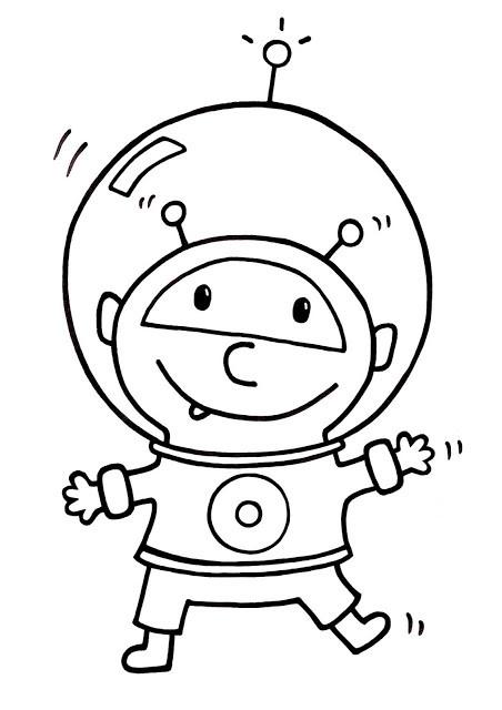 Coloriage et dessins gratuits Alien astronaute à imprimer