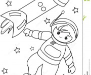 Coloriage dessin  Astronaute 13
