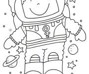 Coloriage dessin  Astronaute 16