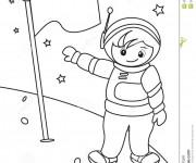 Coloriage dessin  Astronaute 17