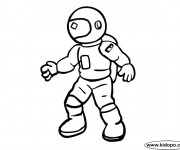 Coloriage et dessins gratuit Astronaute à imprimer
