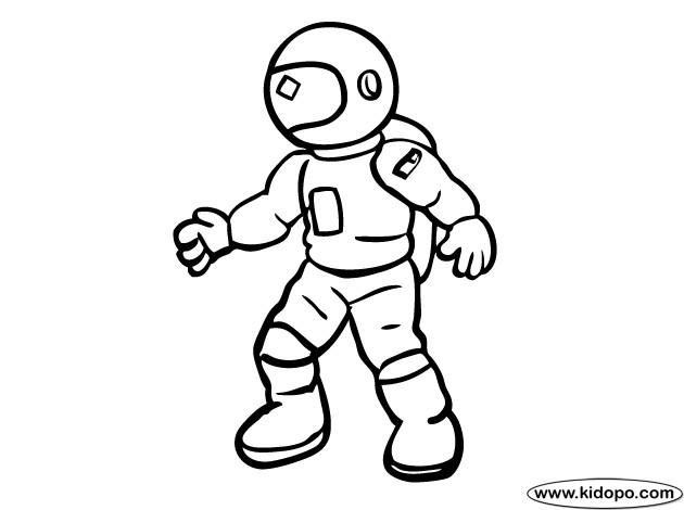 Coloriage et dessins gratuits Astronaute à imprimer