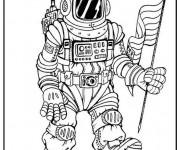 Coloriage dessin  Astronaute 2