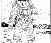 Coloriage dessin  Astronaute 20