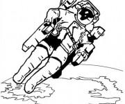 Coloriage dessin  Astronaute 8