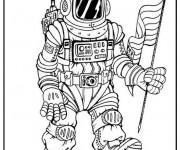 Coloriage Astronaute américain