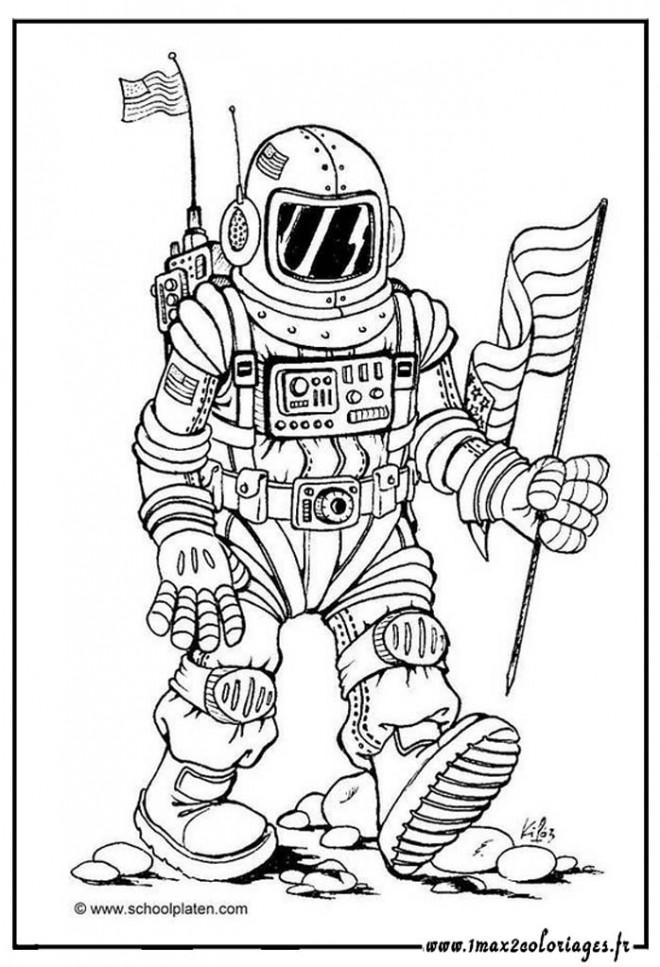 Coloriage et dessins gratuits Astronaute américain à imprimer