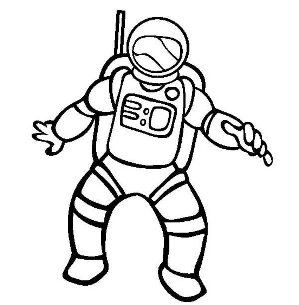 Coloriage et dessins gratuits Astronaute dans l'espace à imprimer