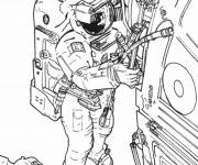Coloriage et dessins gratuit Astronaute dessin réel à imprimer