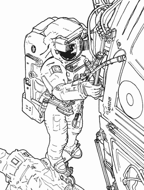 Coloriage et dessins gratuits Astronaute dessin réel à imprimer