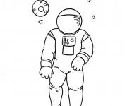 Coloriage et dessins gratuit Astronaute disney à imprimer