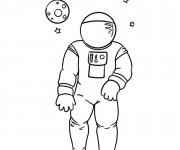 Coloriage Astronaute disney