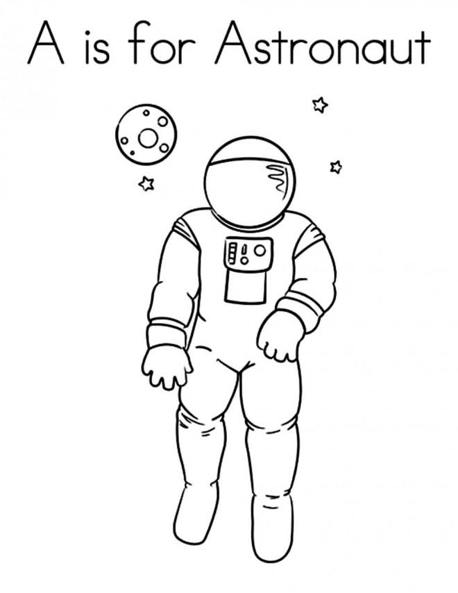 Coloriage et dessins gratuits Astronaute disney à imprimer