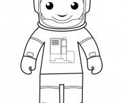 Coloriage et dessins gratuit Astronaute facile à imprimer