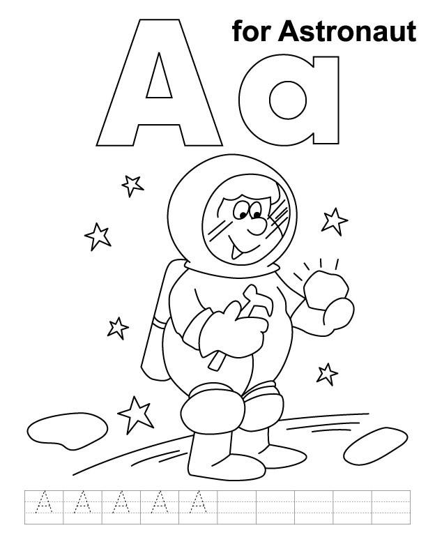 Coloriage et dessins gratuits Astronaute planète à imprimer