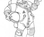Coloriage Astronaute porte son casque