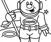 Coloriage et dessins gratuit Astronaute souriant à imprimer