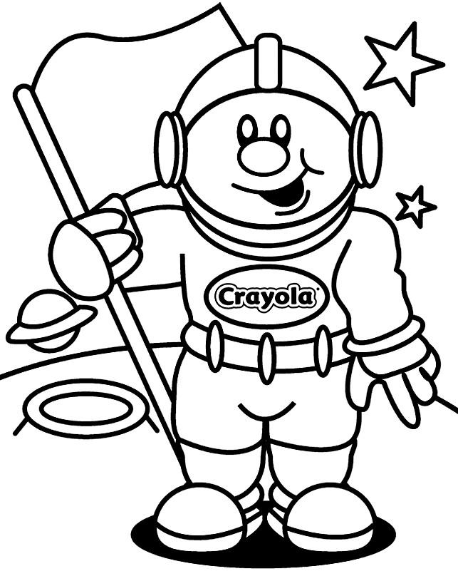 Coloriage et dessins gratuits Astronaute souriant à imprimer