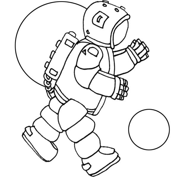 Coloriage Combinaison spatial dessin gratuit imprimer