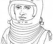 Coloriage Cosmonaute adulte