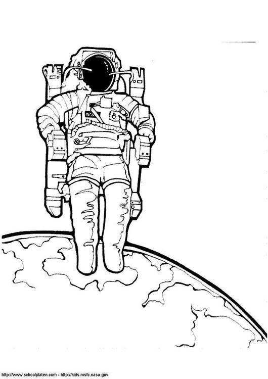 Coloriage et dessins gratuits Cosmonaute illustration vectorielle à imprimer