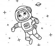Coloriage Fille Astronaute