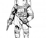 Coloriage Illustrations astronaute