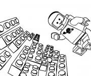Coloriage Lego astronaute
