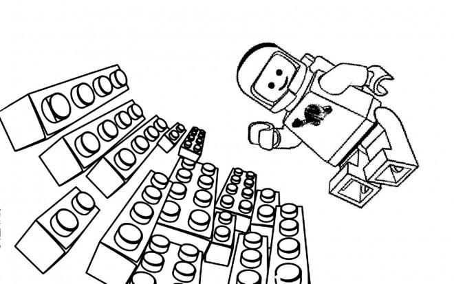 Coloriage Lego Astronaute Dessin Gratuit A Imprimer