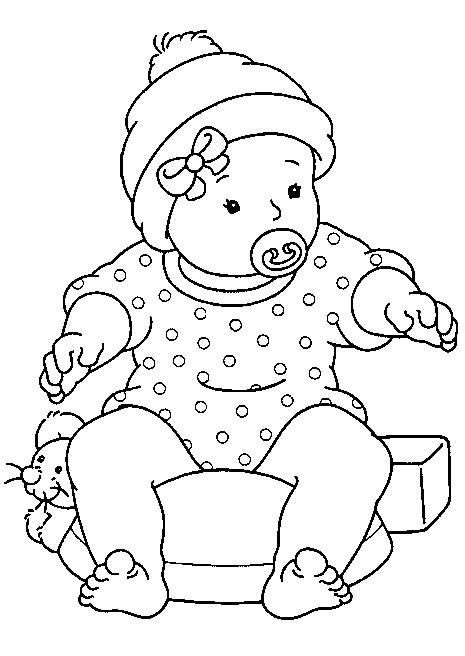 Coloriage et dessins gratuits Bébé dessin maternelle à imprimer