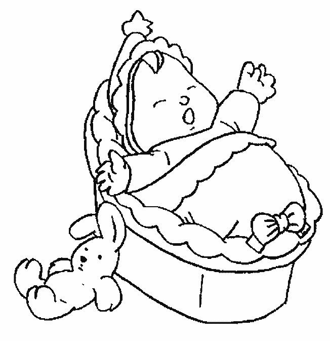 Coloriage et dessins gratuits Bébé dormant près de son lapin à imprimer