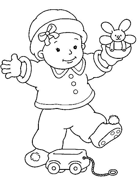 Coloriage et dessins gratuits Bébé en couleur à imprimer