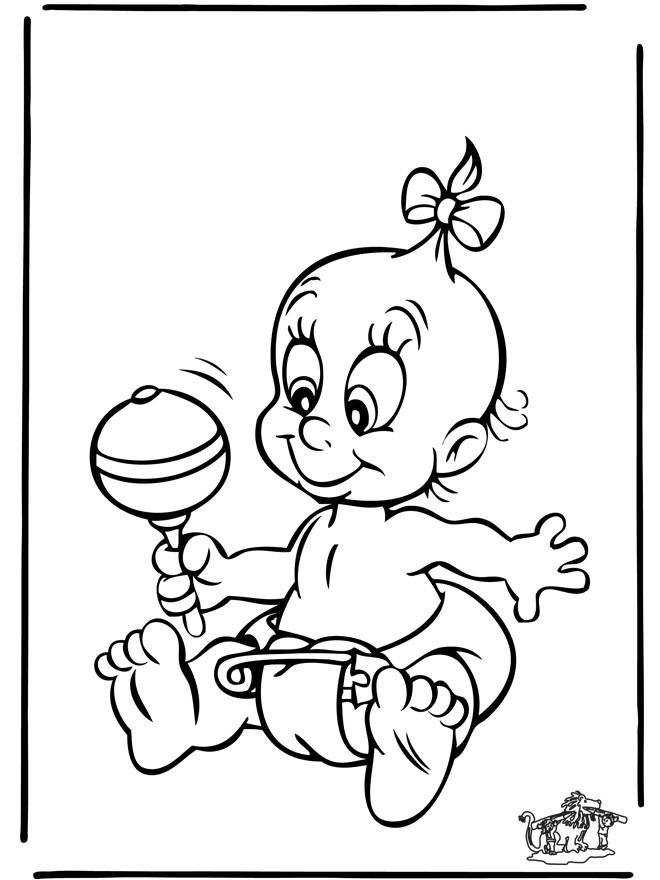 Coloriage et dessins gratuits Bébé en jouant à imprimer