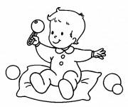 Coloriage Bébé et jouet en ligne