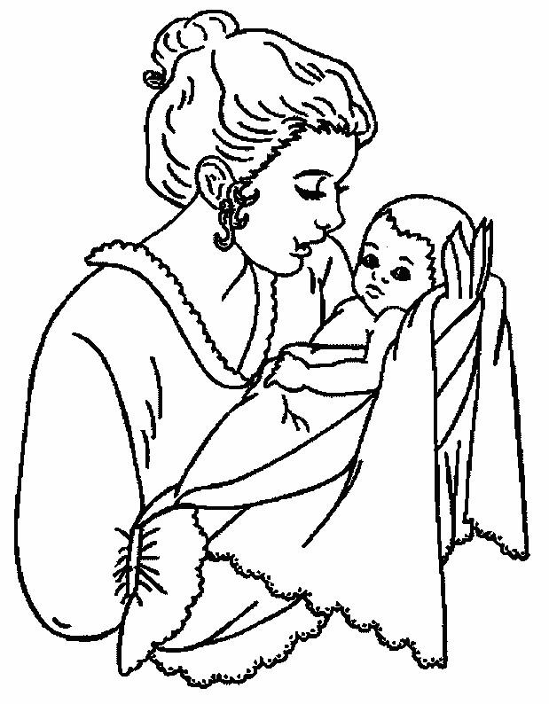 Coloriage b b et maman en ligne dessin gratuit imprimer - Coloriage en ligne enfant ...