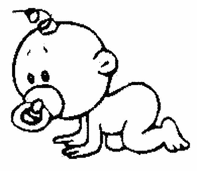 Coloriage et dessins gratuits Bébé et ses premiers pas à imprimer