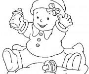 Coloriage et dessins gratuit Bébé et son biberon à imprimer