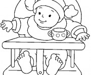 Coloriage Bébé fille