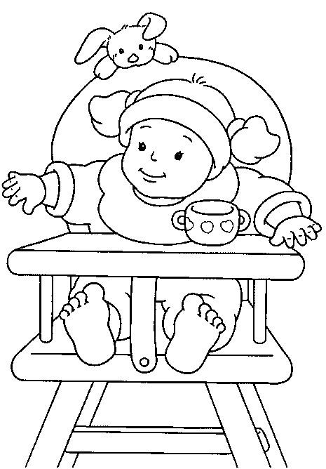Coloriage Bébé Fille Dessin Gratuit à Imprimer