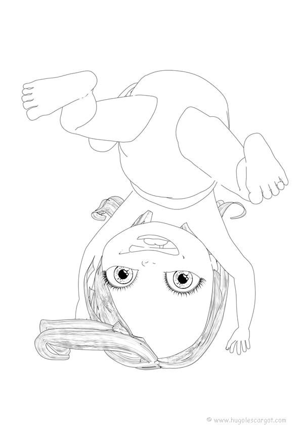 Coloriage et dessins gratuits Bébé fille couleur à imprimer