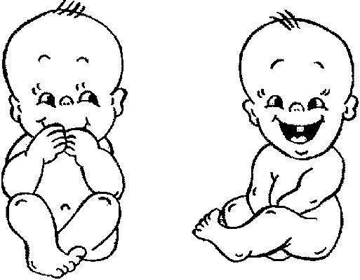 coloriage bebe jumeaux rigolo dessin gratuit  imprimer