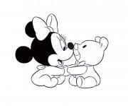 Coloriage Bébé Minnie