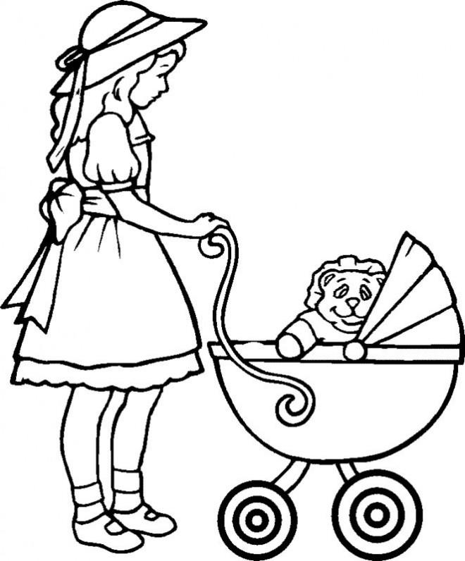 Coloriage et dessins gratuits Bébé Peluche à imprimer